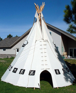 Hand Decorated Tipi