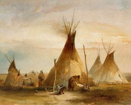 Old Tipi Camp Painting