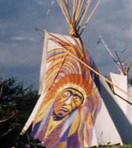 Indian Face on the Tipi